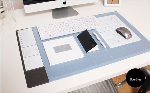 Desk pad wide (blue gray)