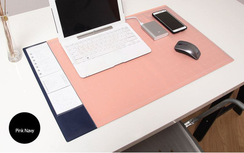 Desk pad wide (pink navy)