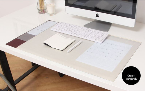 Desk pad wide (cream burgundy)