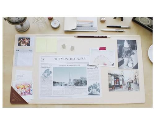 Vintage desk pad wide (ivory)