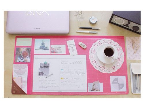 Vintage desk pad wide (hotpink)