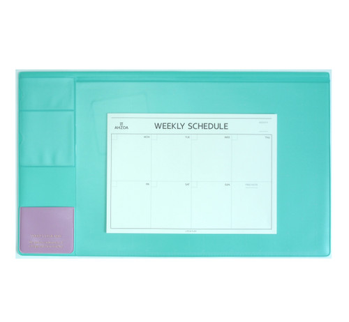 There`s Desk Mat with Weekly Schedulers(Mint)