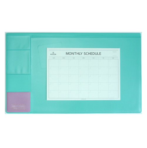 There`s Desk Mat with Monthly Schedulers(Mint)