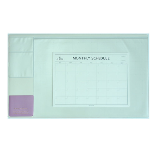 There`s Desk Mat with Monthly Schedulers(Ivory)