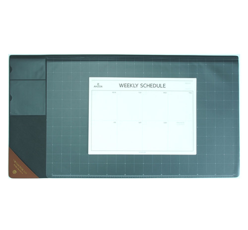 Vintage Desk Mat Ver.2 with Weekly Schedulers (Gray)