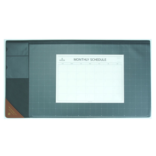 Vintage Desk Mat Ver.2 with Monthly Schedulers (Gray)