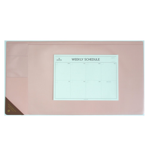 Vintage Desk Mat Ver.2 with Weekly Schedulers (Pink)