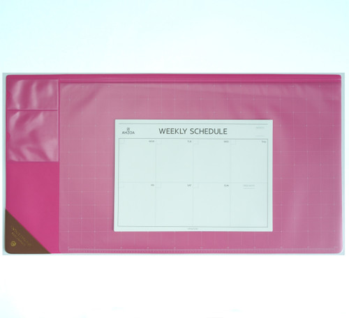 Vintage Desk Mat Ver.2 with Weekly Schedulers (Hot pink)