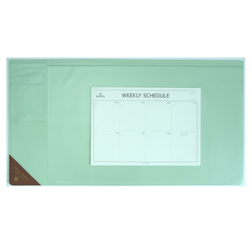 Vintage Desk Mat Ver.2 with Weekly Schedulers (Mint)