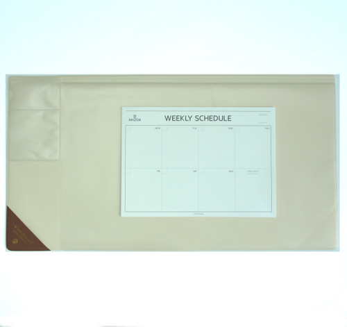 Vintage Desk Mat Ver.2 with Weekly Schedulers (Ivory)