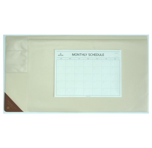 Vintage Desk Mat Ver.2 with Monthly Schedulers (Ivory)