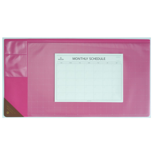Vintage Desk Mat Ver.2 with Monthly Schedulers (Hot pink)