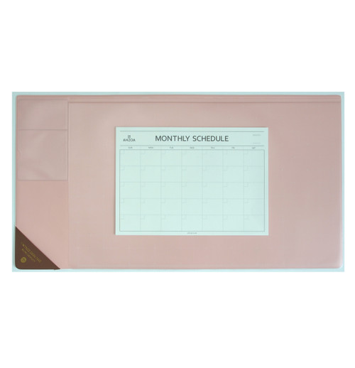 Vintage Desk Mat Ver.2 with Monthly Schedulers (Pink)