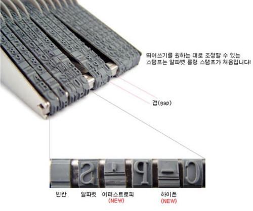 Alphabet Rolling Stamp Package Set Including Ink PadBlack And Cleaner