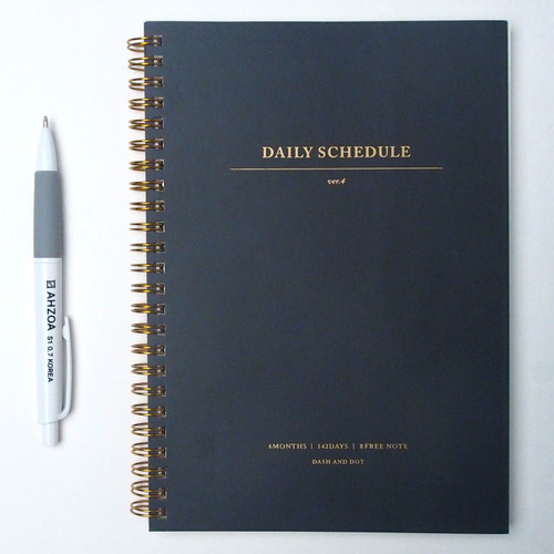 Daily Schedule Undated Planner Package (Black)