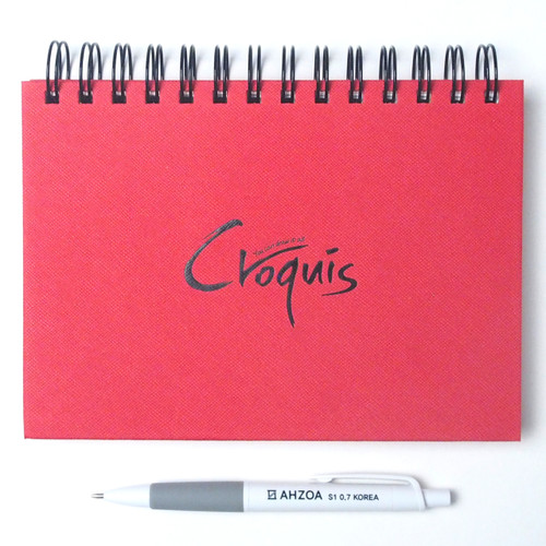 Croquis B6 Size Sketch Notebook Package (Red)