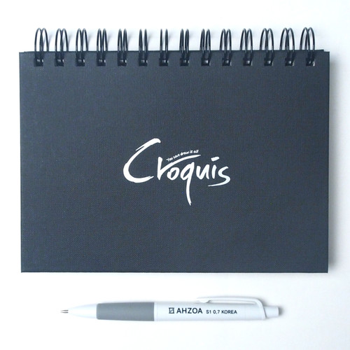 Croquis B6 Size Sketch Notebook Package (Black)