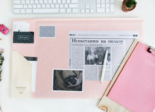 Stay desk pad (Pink ivory)