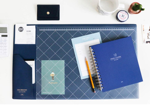 Stay desk pad (Navy)
