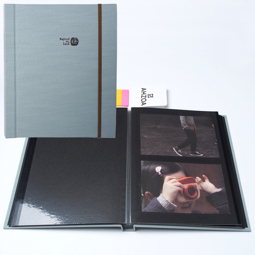 Self-adhesive Photo Album With 5 Colors Sticky Flags(sky)