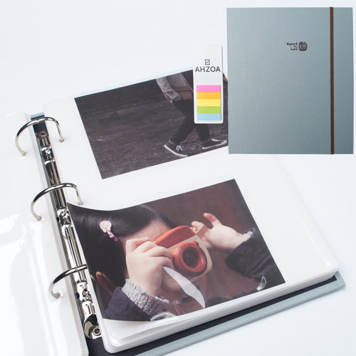 4x6 Inch 200 Clear Pockets Large Photo Album Package (Sky)