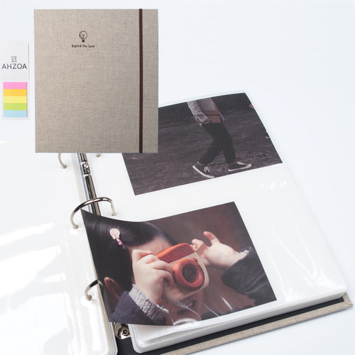 4x6 Inch 200 Clear Pockets Large Photo Album Package (Oatmeal)