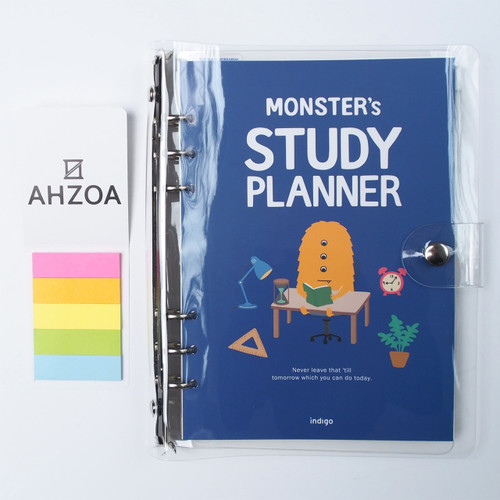 6 Rings Monster Study Planner for 6 Months Package(blue)
