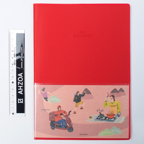 Jam Cash Book For 1 Year (red)