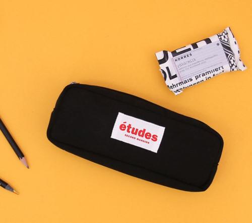 Etudes Solid Pencil Pouch(Black)