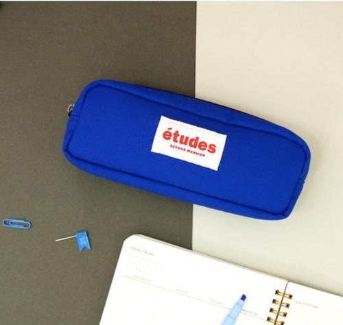 Etudes Solid Pencil Pouch(Blue)