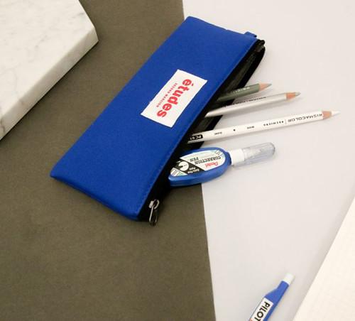 Etudes Flat Pencil Pouch(Blue)