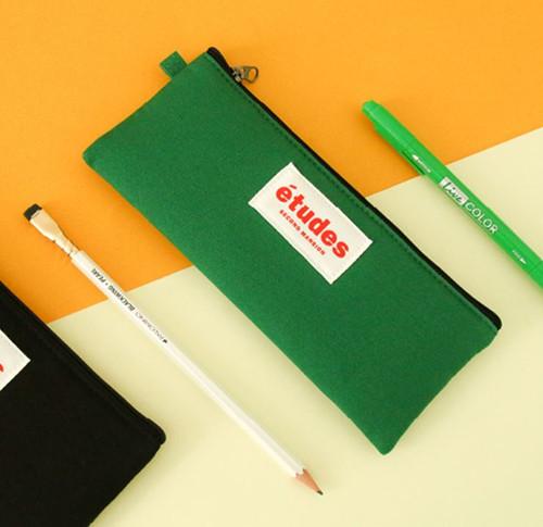 Etudes Flat Pencil Pouch(Green)