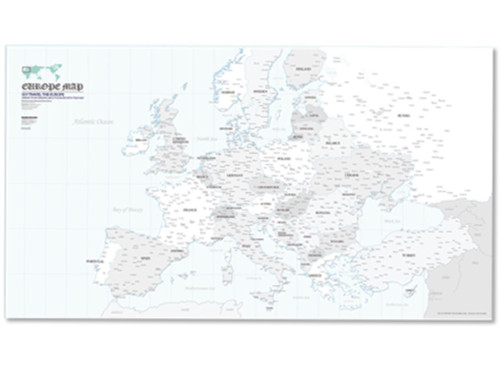 Europe Map Poster with 12 coloring pencils(Shipping for only US)