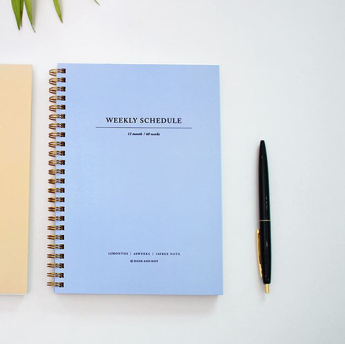 Weekly Schedule Planner (Blue)