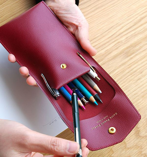 Extra Pencil Pouch (Burgundy)