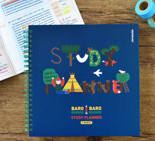 Baro Baro Study Planner (Navy)