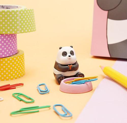 Desk Top Figure Clip Holder Baby Panda
