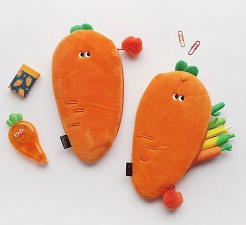 Carrot Slim Pencil Pouch