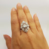 18CT 1.01 D/SI WHITE GOLD DIAMOND RING + VALUATION $21755 #43532