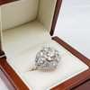 *NEW* 10.2GR PLATINUM OLD MINE CUT DIAMOND RING VAL $31150 #38318