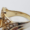 Sterling Silver Citrine Ring Size S #54666