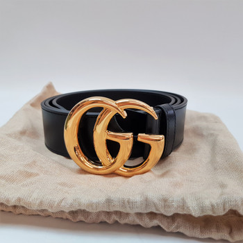 Gucci GG Marmont Leather Belt Shiny Buckle 406831 + Box / Dust Bag RRP $680 #55641