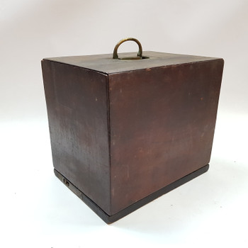 Vintage Wooden Box with Brass Fittings #53955