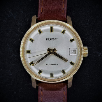 Ladies Pierpont Mid-Size Gold-Capped Manual Swiss Watch Vintage & Rare #53815