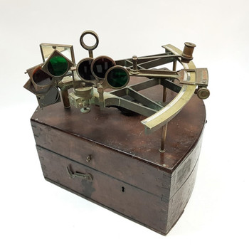 Messer London Sextant Sold by Hemsley & Son - In Timber Case #55728