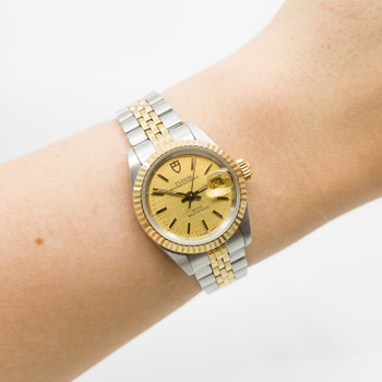 Ladies Tudor Princess Oyster Date Two Tone Watch 92413N #54390