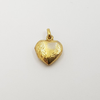 Gold Plated Sterling Silver Love Heart Locket Charm #55581