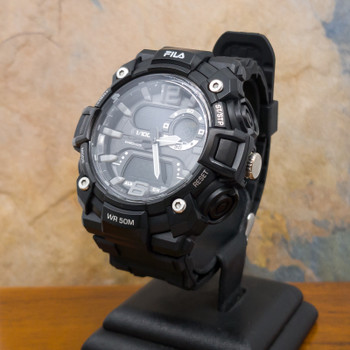 Fila Sports Watch 38-850 Black with Rubber Band #55081