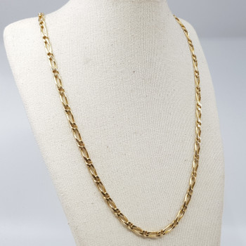 14ct Yellow Gold Figaro Gold Chain Necklace 47cm #52623