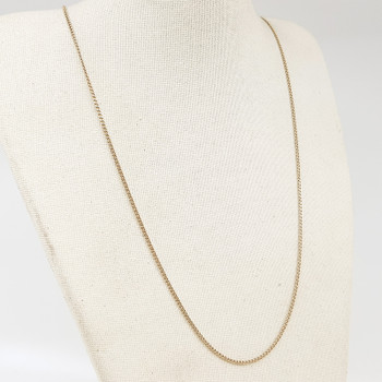 9ct Yellow Gold Curb Link Chain Necklace 58cm 375 #54379